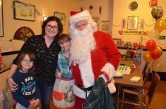Melissa, Abby, Aiden with Santa