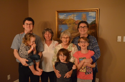Shawn Violet, Auntie Linda, Auntie Joyce, Aiden, Melissa and Abby