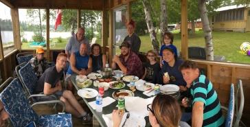 Clockwise from Left: Lucas, Uncle Al, Bruce, Aaron, Chantale, Stephanie, Philip, Abby, Aiden, Stephanie's GF, Steven, Melissa (back of head)