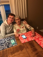 Jackie with Auntie Joyce at our new table.