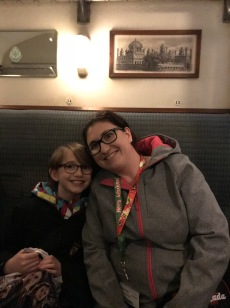 Melissa & Abby in The Hogwarts Express