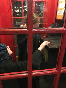 Abby & Aiden trying to figure out how use the phone booth to call the Ministry of Magic