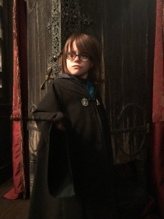 Aiden in front of the vanishing cupboard