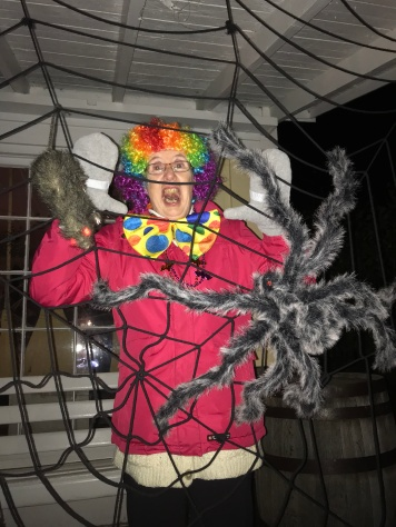 The Clown caught in a web at a house in Lang