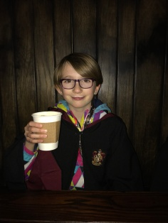 Abby enjoying a butterbeer