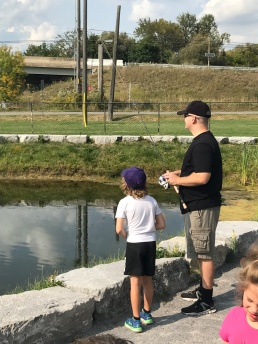 William fishing with Jeff