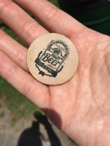 Token from beer at beerfest.