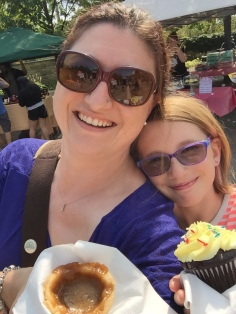 Mom & Abby selfie with their desserts